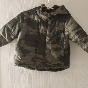 Quilted camo toddler jacket size 12mo
